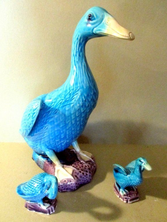 Chinese Porcelain Duck and Ducklings