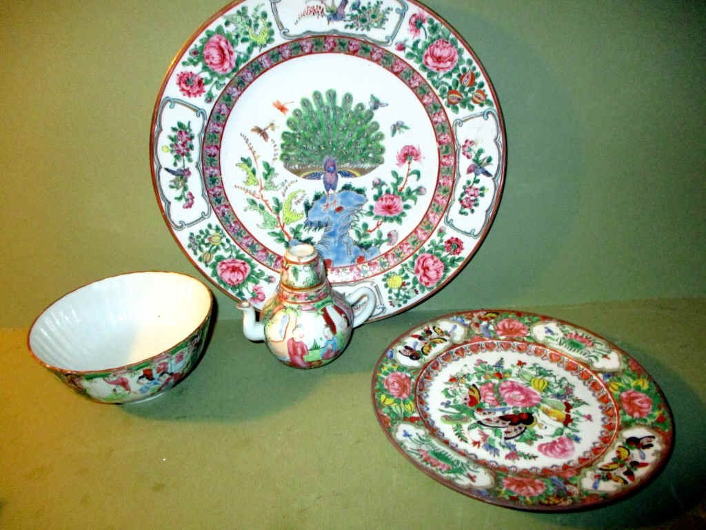 Lot of 4 Pieces of Rose Medallion