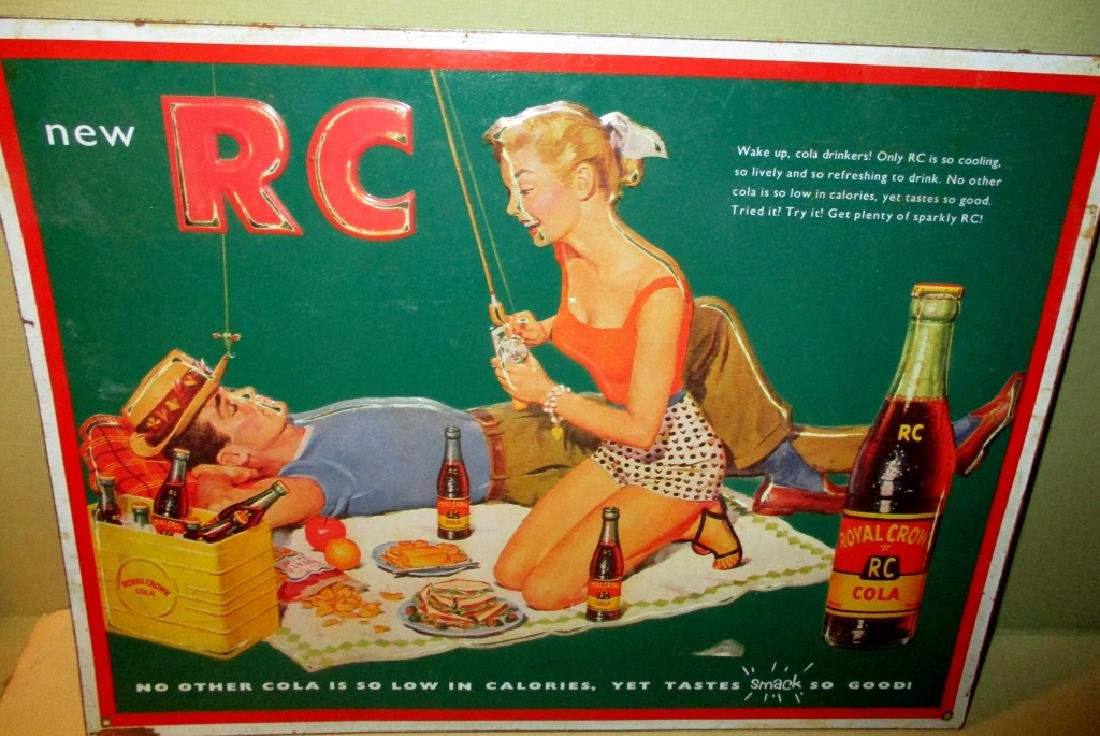 1950's RC Cola Tin Advertising Sign