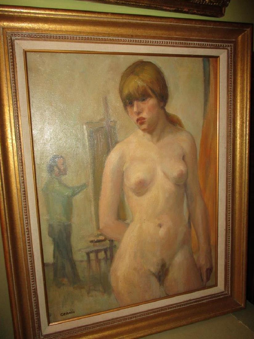 Oil Painting of Nude Woman