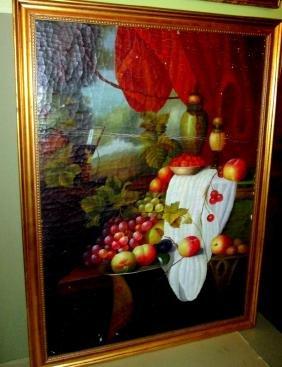 Still Life Fruit Painting C.a. 1800