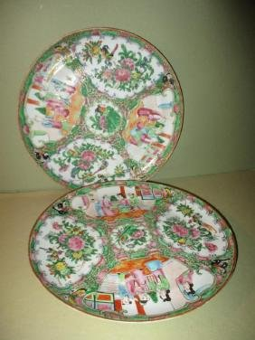 Two Rose Medallion Plates