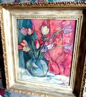 Floral Still Life Oil Painting on Board