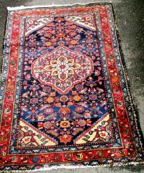 Old Hamadan Oriental Scatter Rug