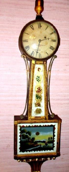 Aaron Willard Banjo Wall Clock