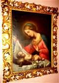 Lg 19th Century Oil on Canvas of Madonna & Child
