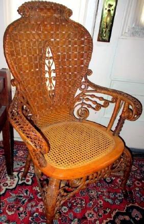 Antique Victorian Wicker Chair