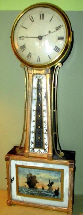 C.a. 1830s American Banjo Wall Clock