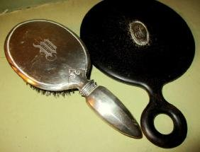 Sterling Brush and Mirror Lot