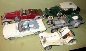 Five Vintage Auto Models