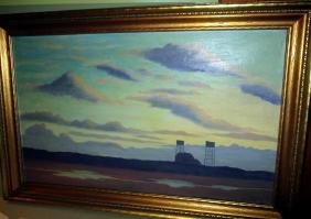 Oil Painting on Canvas of Mid-Western Landscape