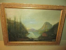 Small Primitive Landscape Painting