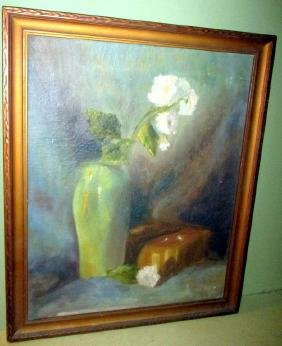 Impressionist Painting of Floral Still Life