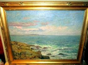 Oil on Canvas of Seascape