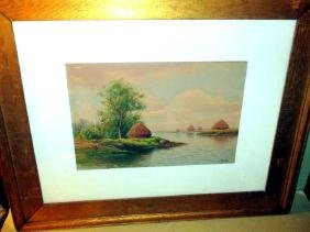T. Bailey Watercolor, Signed