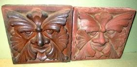 Pair of Architectural Clay Tiles