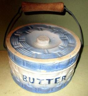 Antique Butter Crock with Cover