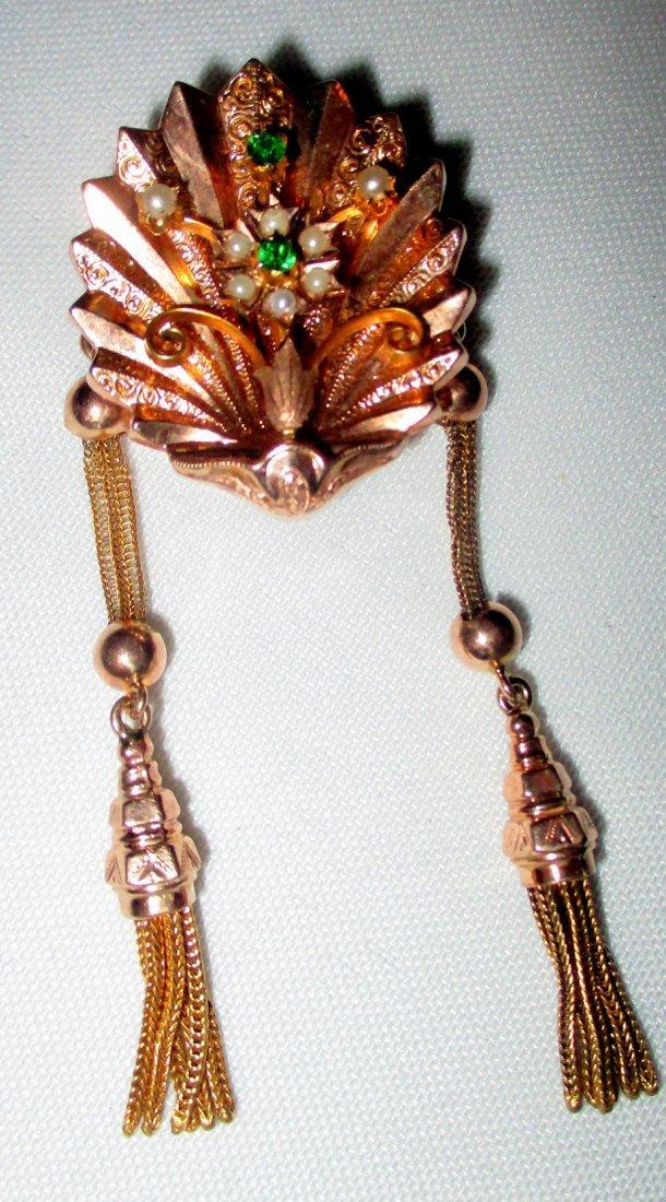 Lady\'s 14K Rose Gold Victorian Slide