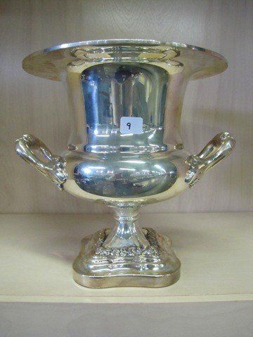 """9: 12 Champaign ice bucket silver plate"""""""
