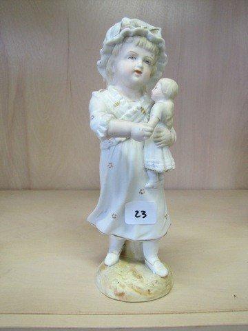 """23: Bisque 8 figure- Lady w/ bonnet"""""""