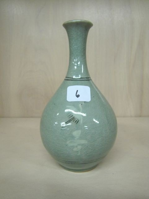 "6: Satsuma 7"" vase w/ flying birds. see pictures for ma"