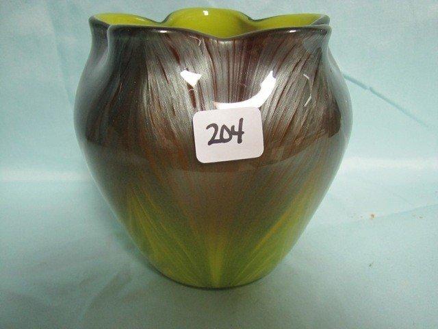 "204: RARE Loetz Titania vase. Stands 5.75"" tall & 5"" wi"