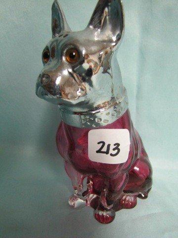 213: Czech Bull Dog ruby shaker