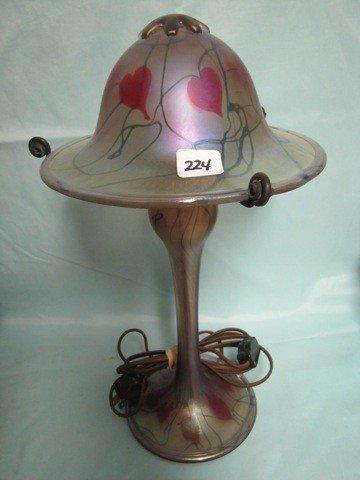 """224: Radke 14"""" Hanging Heart lamp"""