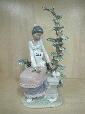 "263: Lladro oriental girl figure, 12"""