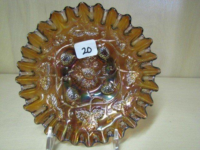 "20: Mburg 5"" rad purple Blackberry Wreath CRE bowl."