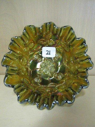 "21: Mburg 5"" rad green Grape Wreath vari CRE bowl WOW!"