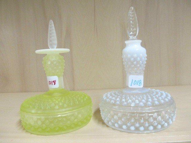 1018: Fenton Hobnail vanity set-  topaz opal satin