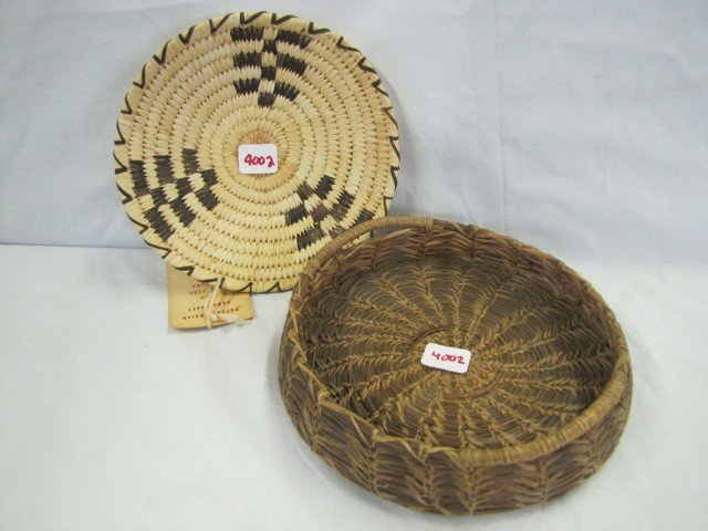 4002: 2 Arizona Indian baskets PAPAGO