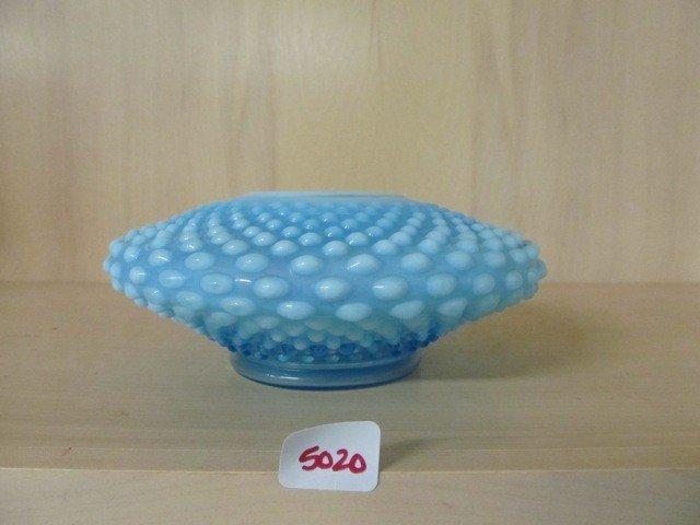 5020: Fenton Blue Opal Hobnail Special Rose Bowl