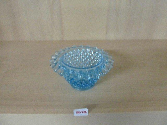 5024: Fenton Blue Hobnail Fairy Lamp Base