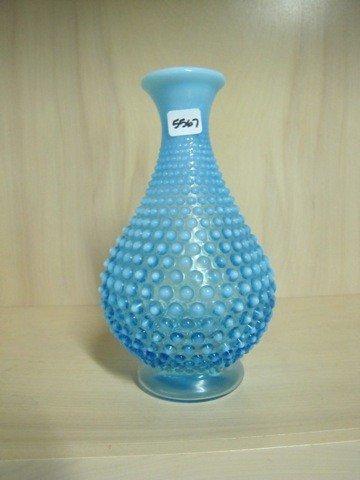"""5567: Fenton Blue opal Hobnail 10"""" Water Bottle"""