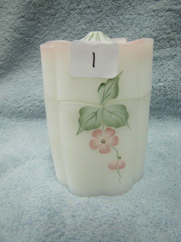 "1: Fenton 4"" coverred box w/HP floral"