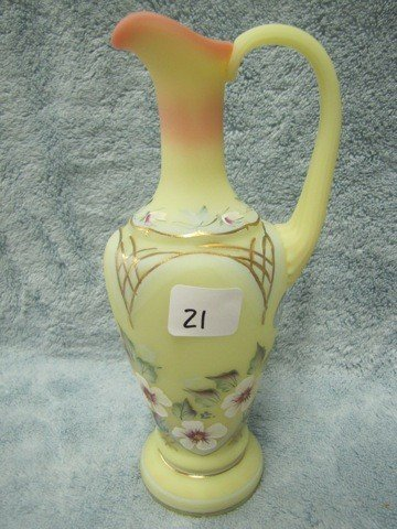 "21: Fenton Burmeme 8 1/2"" HP pitcher-Riley"