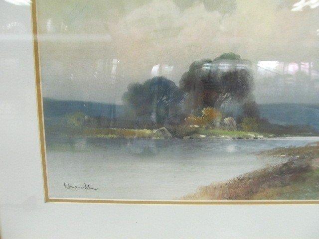 5: Chandler Pastel original in nice frame 43x24. Well D