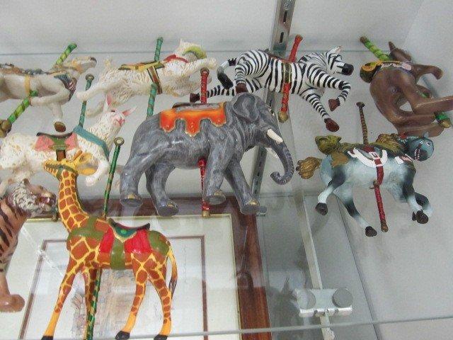 12: Set of 12 Smithsonian Institution carousel animal o