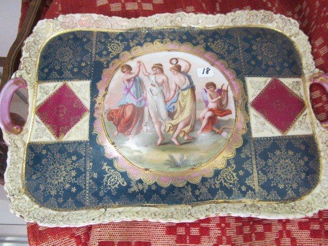 "18: Royal Vienna 14"" portrait tray"