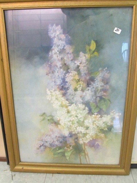 20: Nice 17 x 23 Patel print of Lilacs Signed