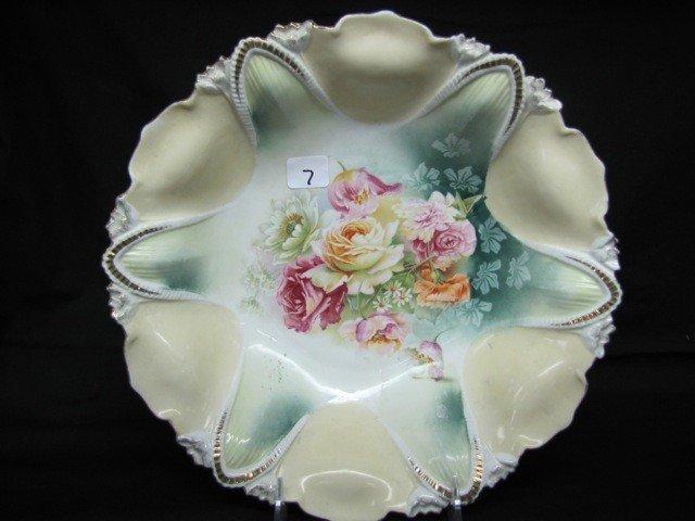 "7: RSP 10 1/2"" floral bowl w/roses"