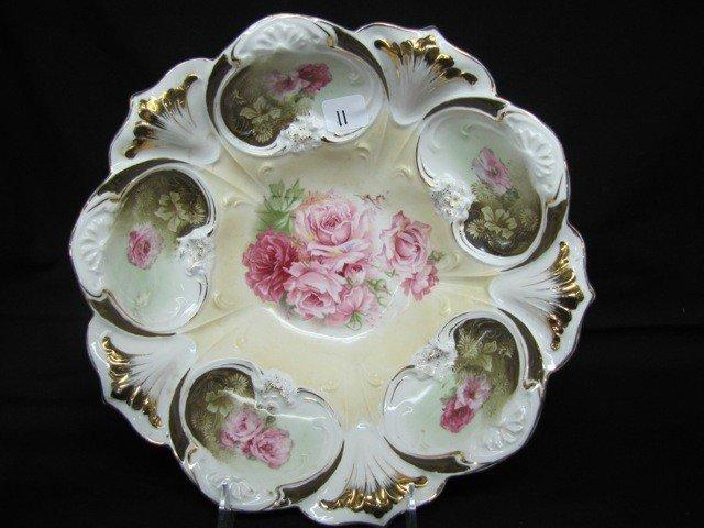 "11: RSP 10 1/2"" bowl in bowl w/pink roses"