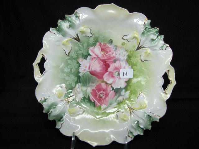 """14: RSP 10 1/2"""" Iris mold floral cake plate"""