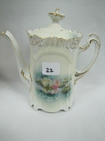 22: RSP Icicle mold reflecting flowers tea pot. Small l