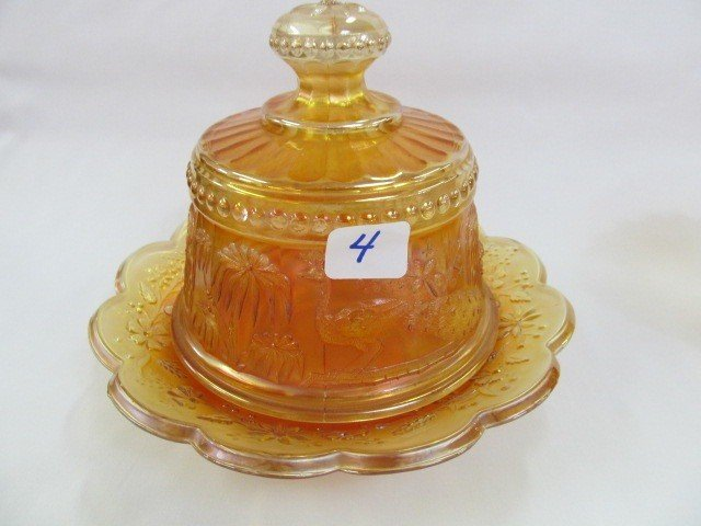 4: Nwood mari Peacock at Fountain covered butter dish