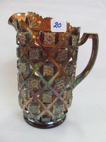 20: West purple Checkerboard water pitcher Very Scarce