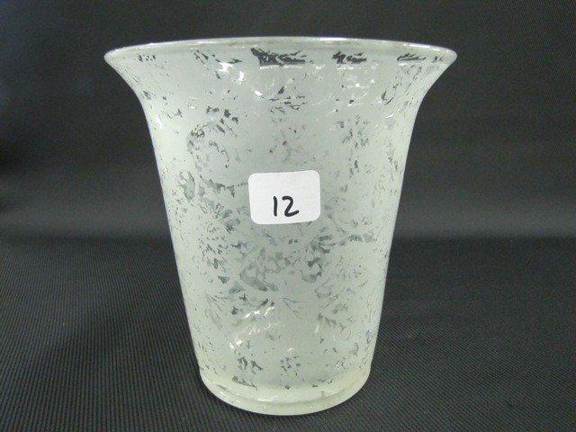 """12: Fenton Ming 6"""" slip vase"""
