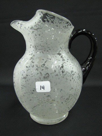14: Fenton Ming water pitcher w/ebony handle